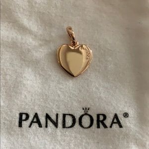 Pandora Jewelry - Pandora Matte Brilliance Heart Pendant